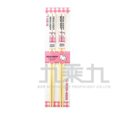 K/T 2入竹筷(格子) KT1391