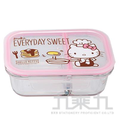 H/B K/T 分隔耐熱玻璃保鮮盒廚師 KT1410