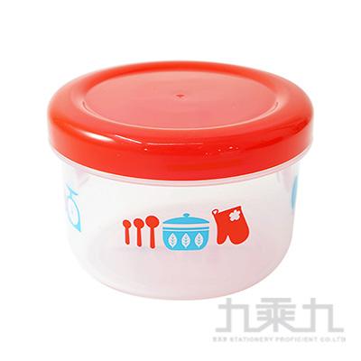 (日)紅白蓋圓罐 K385