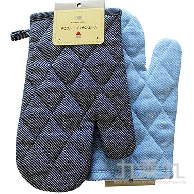 丹寧藍隔熱手套(顏色隨機)