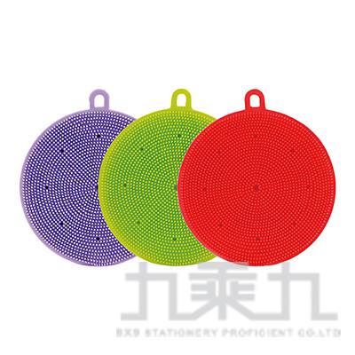 雙面矽膠洗碗刷(圓) 015023