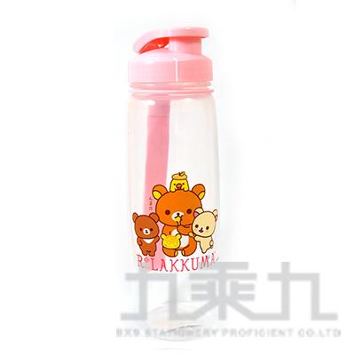 拉拉熊吊帶式PP水壺700CC(茶小熊粉) RK54374B