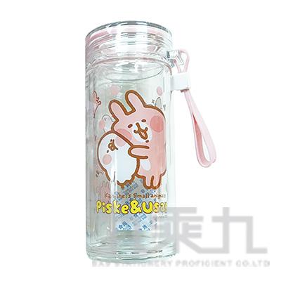 卡娜赫拉300ml雙層玻璃杯-抱抱版 KS70031A