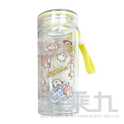 卡娜赫拉300ml雙層玻璃杯-亂花版 KS70031B