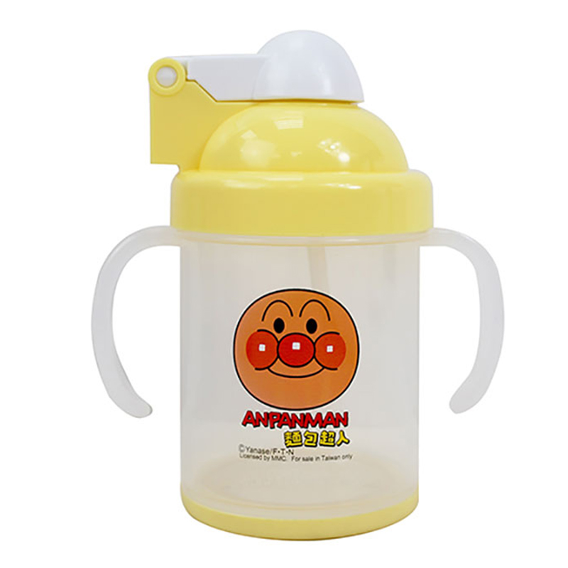 麵包超人防滑自動吸管杯-黃版 AN54901B