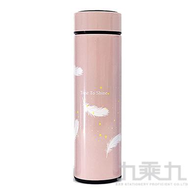 羽毛(粉)500ml保溫杯 GF020Z-02