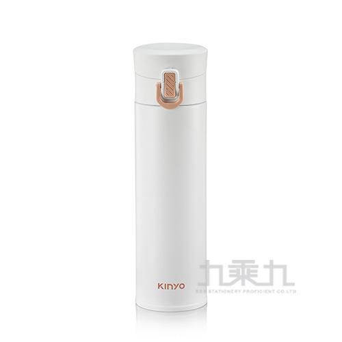 Kinyo-304不鏽鋼超輕量保溫杯 白 300ml
