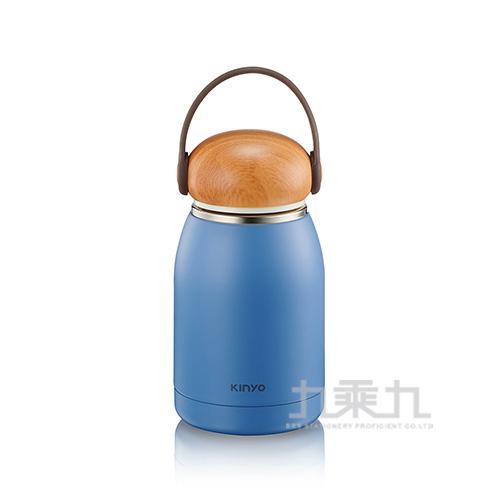 Kinyo-304不鏽鋼隨行保溫杯 藍-320ml