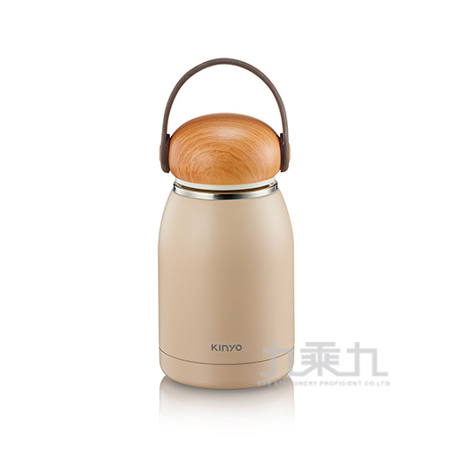 Kinyo-304不鏽鋼隨行保溫杯 白-320ml