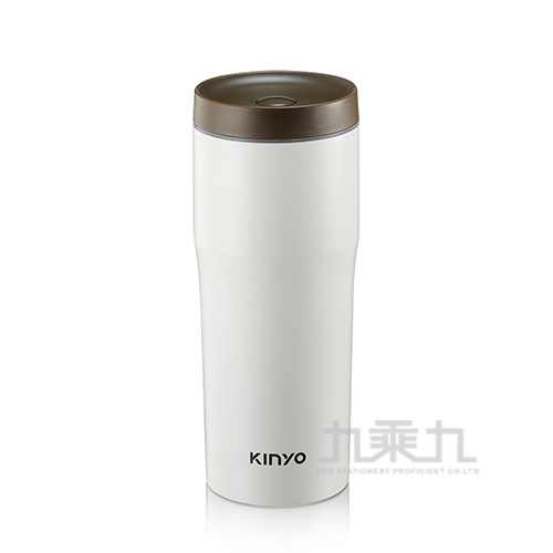 Kinyo-304不鏽鋼車用保溫杯-480ml