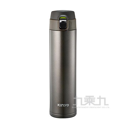 Kinyo304不鏽鋼大容量保溫杯-棕520ml
