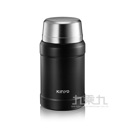 Kinyo316不鏽鋼真空燜燒罐 黑-800ml