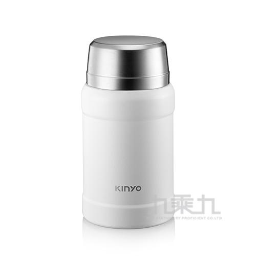Kinyo316不鏽鋼真空燜燒罐 白 800ml