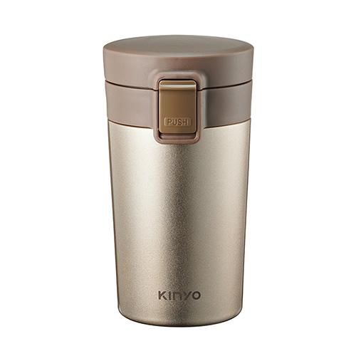 KINYO-304不鏽鋼咖啡保溫杯-300ml 金