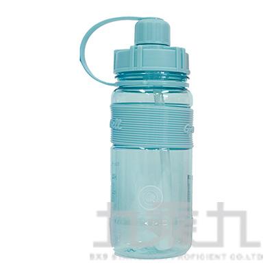 棉花糖600ml彈跳吸管太空壺(天藍) 19-600-B