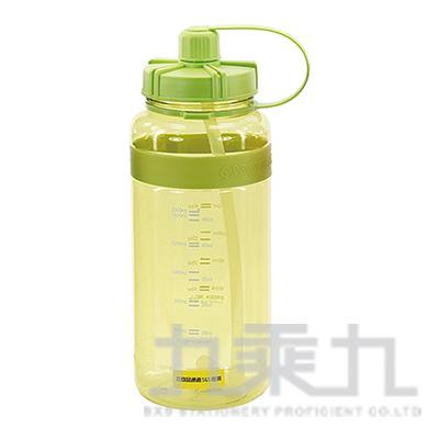 棉花糖2000ml彈跳吸管太空壺(湖綠) 19-2000-G