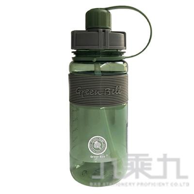 撞色彈跳吸管太空壺600ml-軍綠 19-600-2G