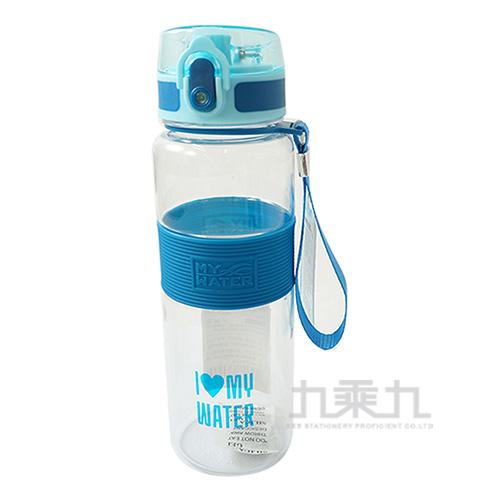 MY WATER萌夏彈蓋水壺(藍)-600cc