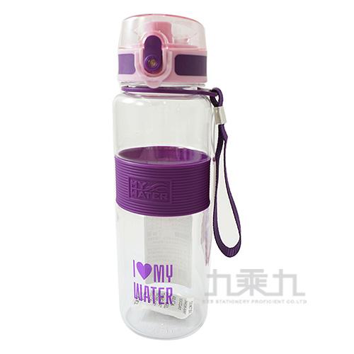 MY WATER萌夏彈蓋水壺(紫)-600cc