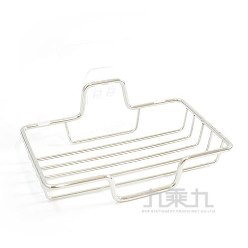 免釘無痕不鏽鋼皂架 M-7016