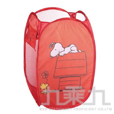 史奴比摺疊洗衣籃屋子紅版 SP01082