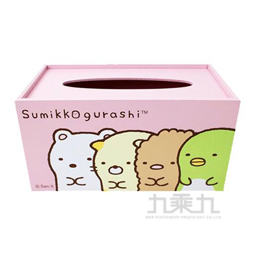 角落小夥伴-木製面紙盒 粉 SG62282A