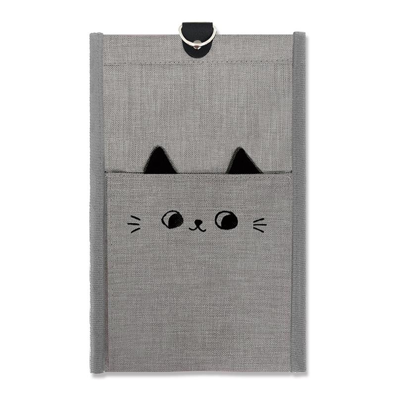 貓耳壁掛收納袋-小灰貓 JLF-07A