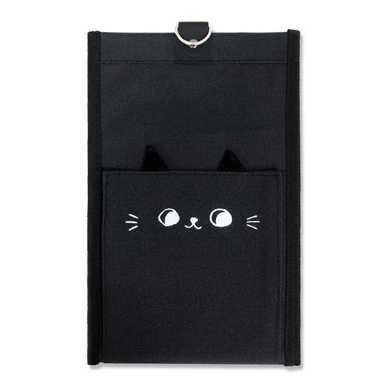 貓耳壁掛收納袋-小黑貓 JLF-07B