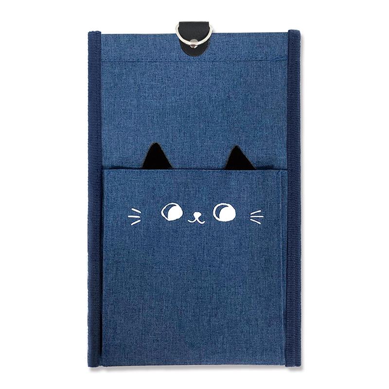 貓耳壁掛收納袋-小藍貓 JLF-07C