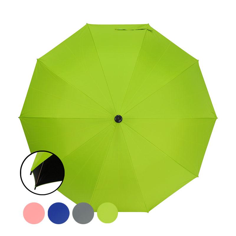 大傘面黑膠防風健行傘(灰/綠/藍/粉)(款式隨機出貨) SE1007S