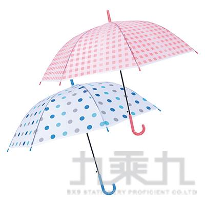 KINYO KU-8020花漾環保自動傘(藍BU/粉PI)