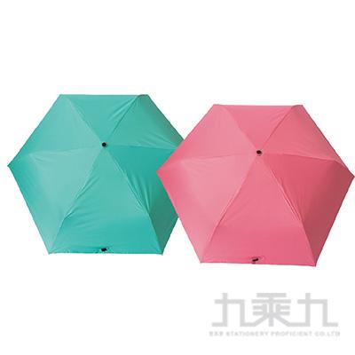 KINYO 三折黑膠超輕傘(綠/粉) KU9085(顏色隨機)(顏色隨機)