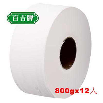 百吉牌大捲筒衛生紙(800g*12捲/箱) 418008