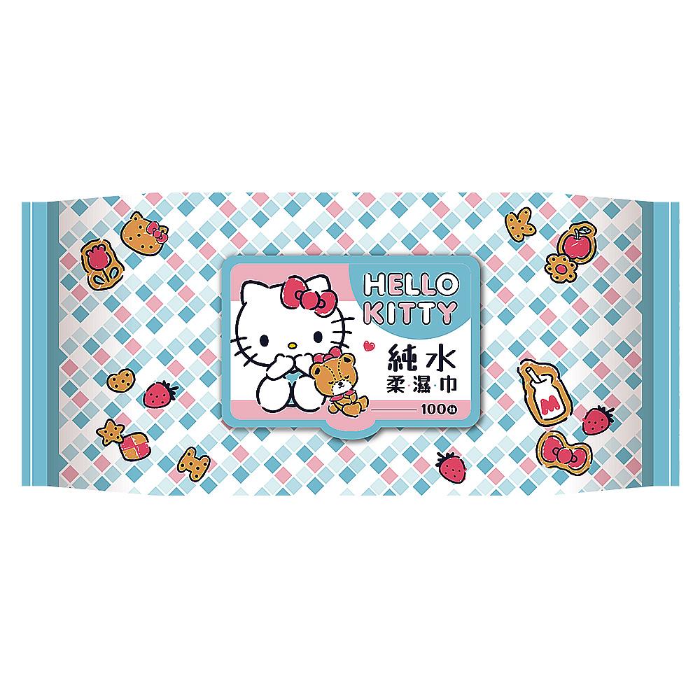 Hello Kitty 超純水柔濕巾100抽 加蓋