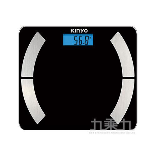 KINYO 藍牙健康管理體重計-黑 DS6590