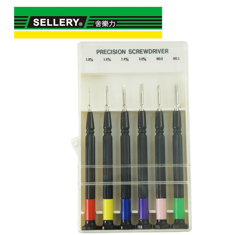 SELLERY 彩色鐘錶起子-6入 S11-142