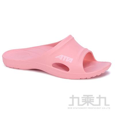 ATTA運動風簡約休閒拖鞋-粉6 6689