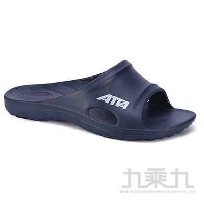 ATTA運動風簡約休閒拖鞋-藍9 6689
