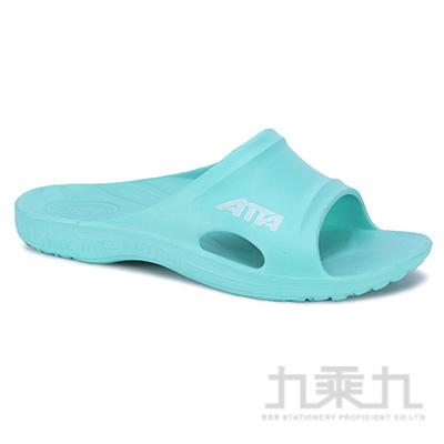 ATTA運動風簡約休閒拖鞋-湖水綠8 6689