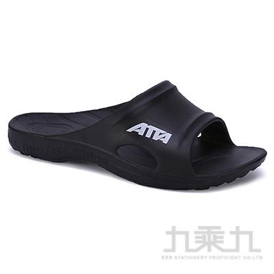 ATTA運動風簡約休閒拖鞋-黑10 6689