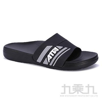 ATTA運動風圖紋室外拖鞋-黑28 91014