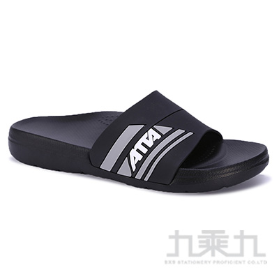 ATTA運動風圖紋室外拖鞋-黑29 91014
