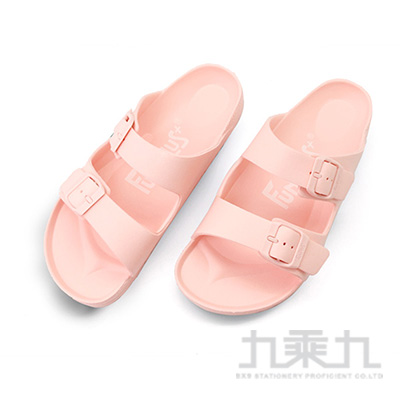 樂活雙排扣室外拖鞋-粉橘23 61026