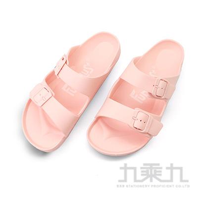 樂活雙排扣室外拖鞋-粉橘25 61026