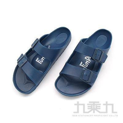 樂活雙排扣室外拖鞋-藍27 61026
