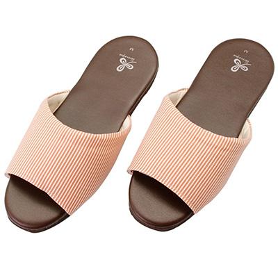 漫遊生活室內皮鞋拖鞋-橘M 66100