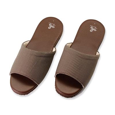 漫遊生活室內皮鞋拖鞋-咖L 66100