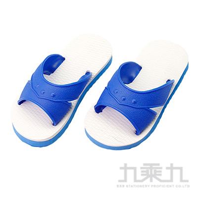 經典藍白童H拖鞋-藍6 83011