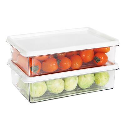 SYSTEM廚房冰箱收納盒1000ml(2入) 03095A