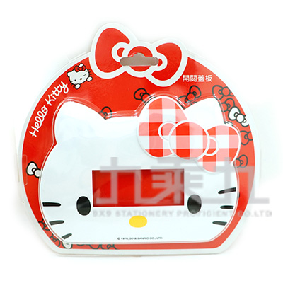 Hello Kitty臉蛋造型開關蓋板-3孔 MT-F446KT-3